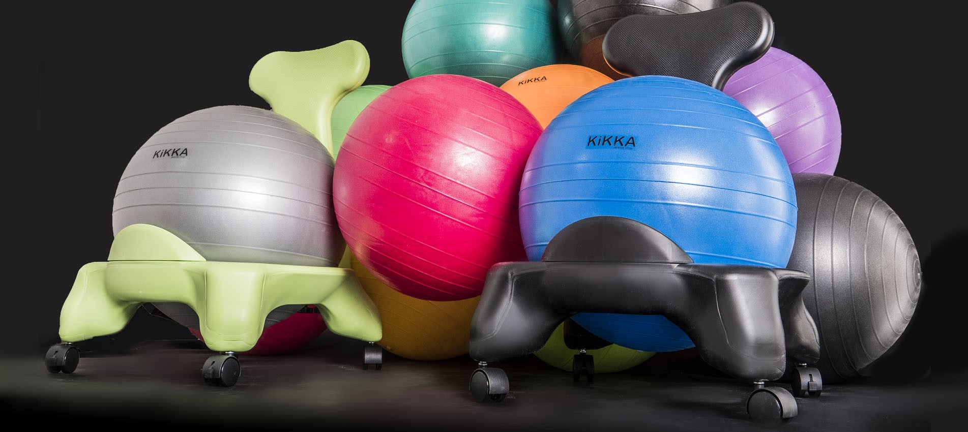 The ergonomic chair with inflatable ball
